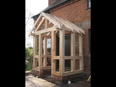 Timber frame porch