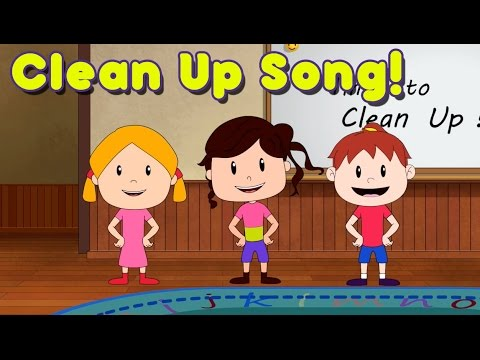 Clean Up Song for Children - Kindergarten and Preschool Song by ELF Learning