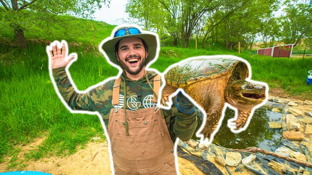 Pet SNAPPING TURTLE Catch Clean Cook!!! (Rip Stan)