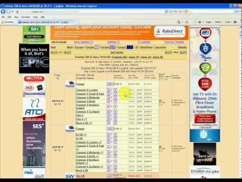How to Find Astra 28.2 FTA Channel Frequencies & Settings on the Lyngsat.com Website