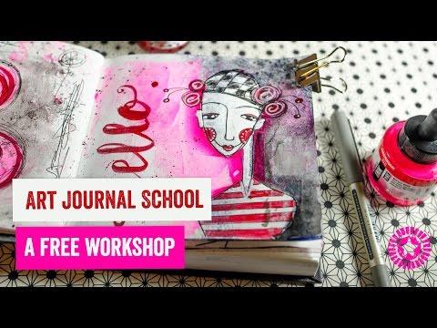 Art Journal School - Start Art Journaling today