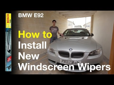 How to change your windscreen wipers [BMW E9x 2006-2009]