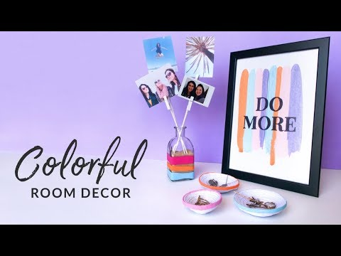 DIY 3 Room Decor Items | Paper Bowls | Photo Display | Quote Art | Curly Made
