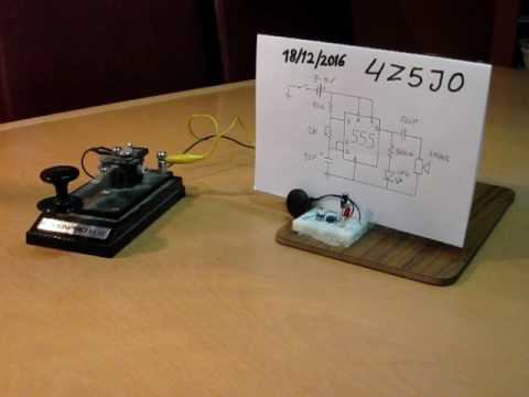 IC 555 SIGNAL code morse