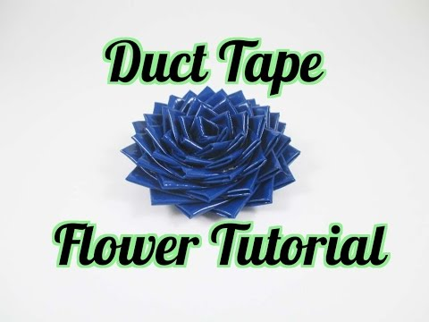 Duct Tape Flower Tutorial