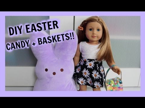 DIY EASTER TREATS AND BASKETS!! | American Girl Doll Easter