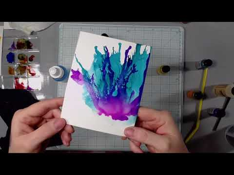 Alcohol Ink Flowers - On Post Cards!