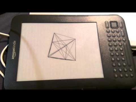 Kindle Hacking - 3D Cube Animation