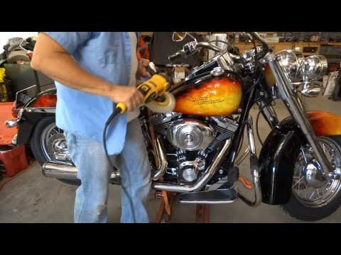Spray paint overspray removal & chrome restored