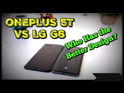 OnePlus 5T vs LG G6 - Design | Glass vs Metal Body