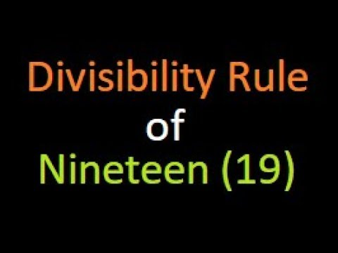 Divisibility rule of 19 second | check if a number is divisible by 19 | Bank PO | IBPS | SSC