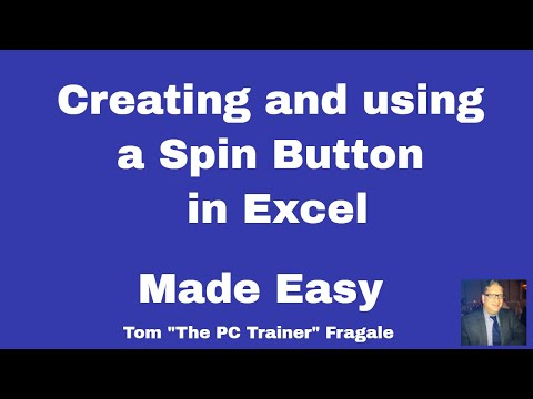 Excel Spin Button - How to create a spin button control in Excel 2016 2013 2010 tutorial