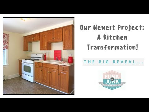 BIG REVEAL! DIY Kitchen Cabinet Remodel Transformation with Annie Sloan Chalk Paint - Part 2 of 2