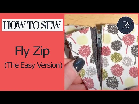 Sewing a Fly Zip The EASY version