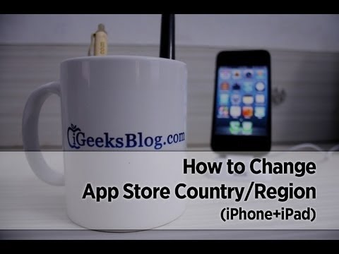 How to Change App Store Country/Region in iOS 8 on iPhone/iPad