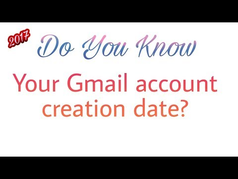 How to find out Gmail account creation date