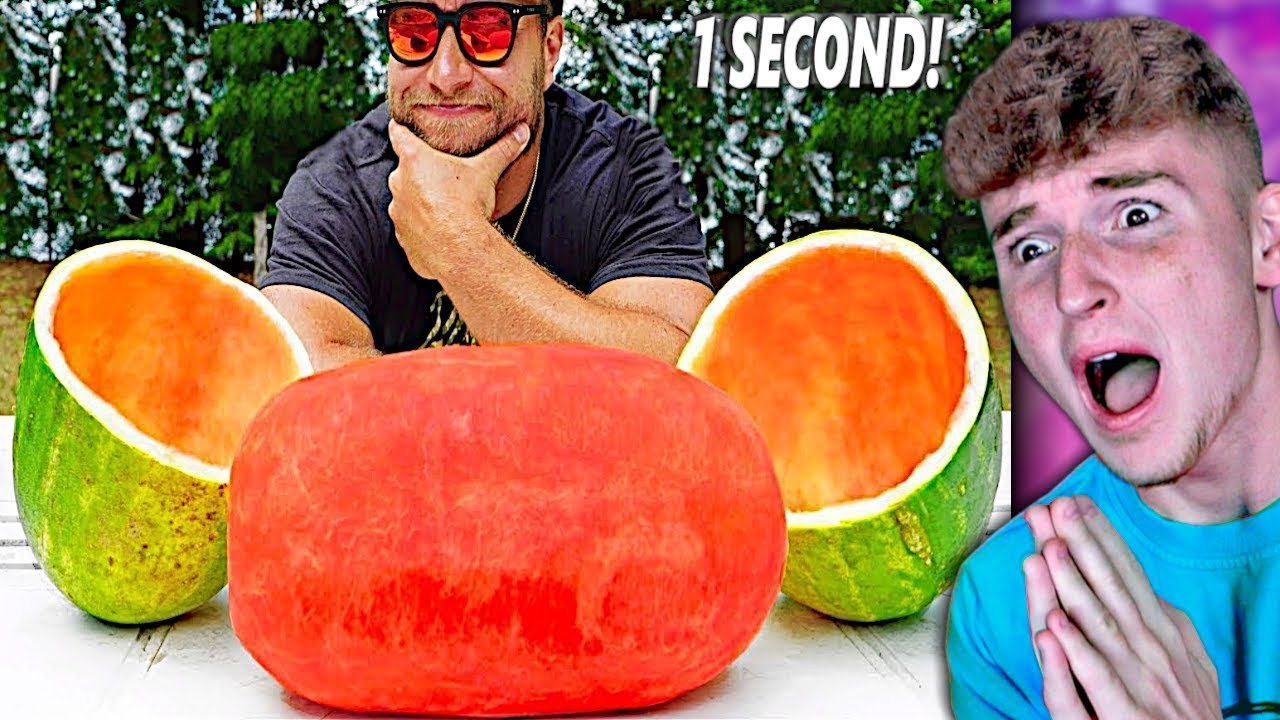 He CUT This Watermelon In ONE SECOND.. (Fastest Workers)