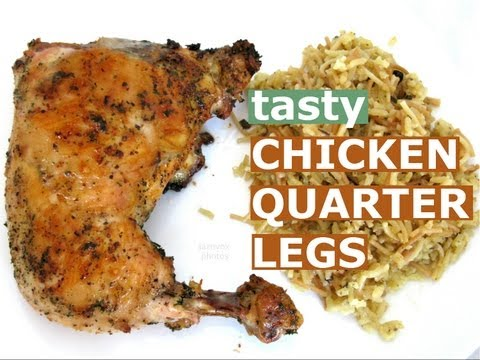 How To Cook Baked Chicken Legs Thighs Salt Pepper Parsley Seasoning Recipe HomeyCircle Jazevox Video