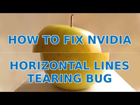 How to Fix Nvidia Graphics Horizontal Lines Tearing Bug in Debian, Ubuntu and Linux Mint