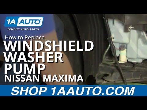 How To Install Replace Windshield Washer Pump Nissan Maxima 04-08 1AAuto.com