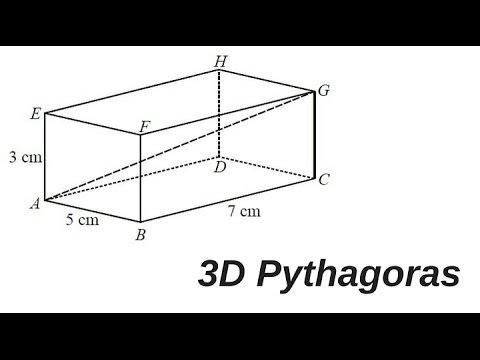 How to work out 3D Pythagoras GCSE maths question 1
