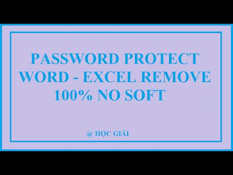 Remove and unlock password Protected Word - Excel without software