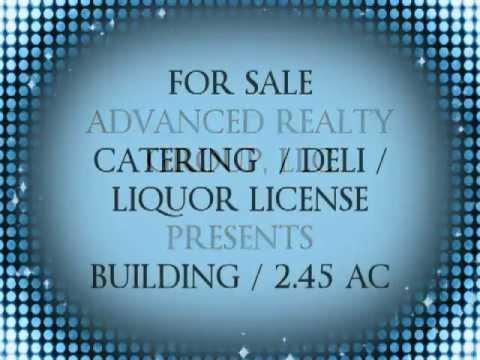 FOR SALE: Building on 2.45 acres. Deli/Restaurant. Liquor License.