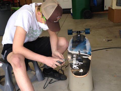 Homemade Wheel Wells On Longboard