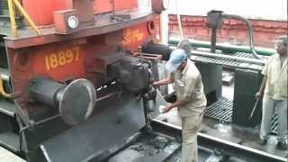 Diesel Engine connecting to a Train (Coupling)