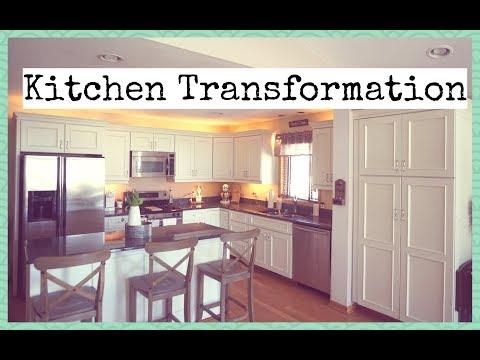 Kitchen Makeover   How To Paint Kitchen Cabinets   Kitchen Transformation