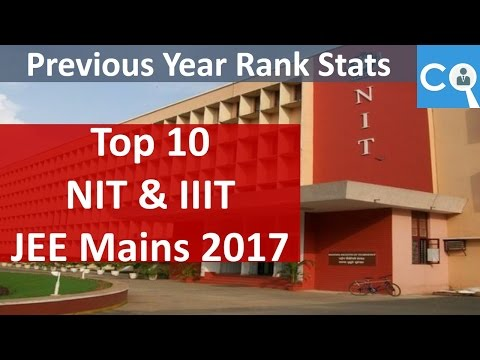 Top Colleges based on JEE Mains Score | Top 10 NITs and IIITs | Rank Analysis