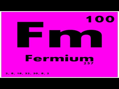 STUDY GUIDE: 100 Fermium | Periodic Table of Elements