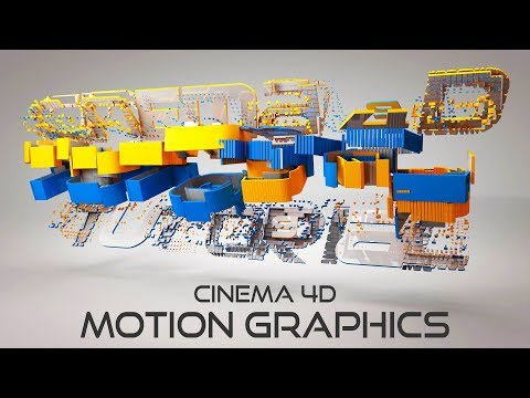 Cinema 4D Motion Graphics Title Animation | Cinema 4D Particle Animation Tutorial
