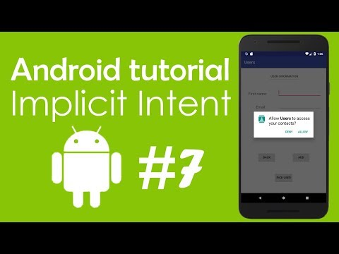 Android Tutorial #7 - Connect To Other Apps - Implicit Intent