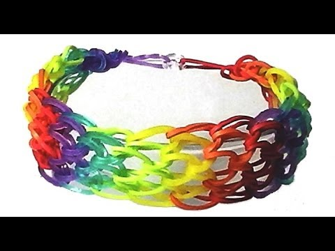 How to make a Dragon Scale Cuff bracelet using Rainbow loom tutorial video diy.