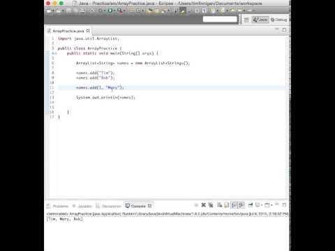 Array List Methods (Java)