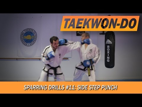 Sparring Drills #11: Side step, Punch.