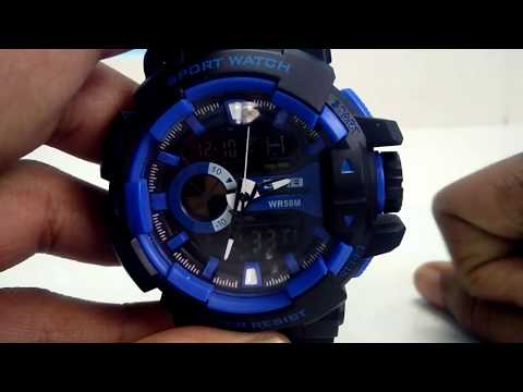 How to set time in skmei digital analog watch in hindi||smat tech