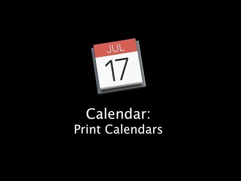 How to Print Calendars with the Mac Calendar App