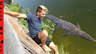 PAUL CUFFARO Almost DIED JUMPING in ABANDONED Everglades Outpost!