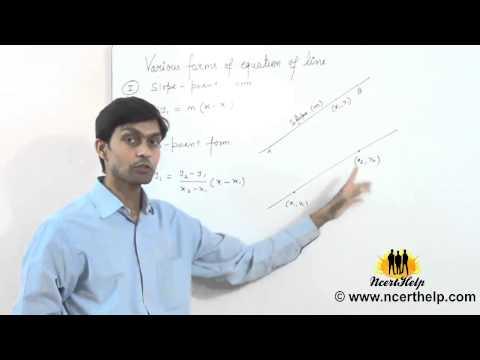 slope point formula, two point formula, slope intercept formula of straight line (Hindi + English)