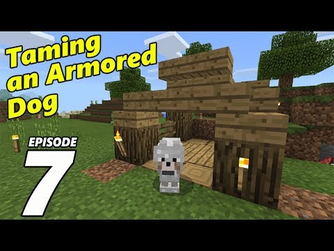 TAMING AN ARMORED DOG Episode 7 | Minecraft PE Survival