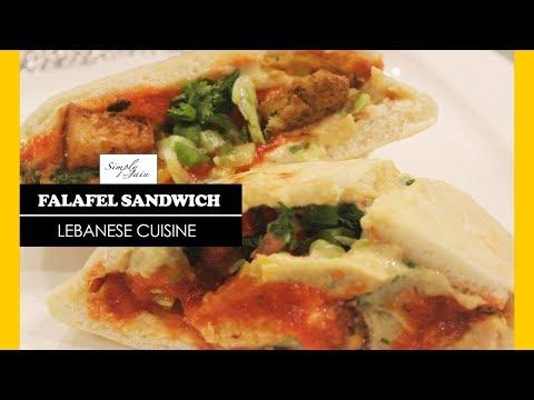 Falafel Sandwich Recipe | How To Make Jain Falafel Sandwich | Lebanese Cuisine | Simply Jain