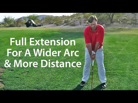 Golf Driver Tip - Extend Arms for Wider Arc and More Distance