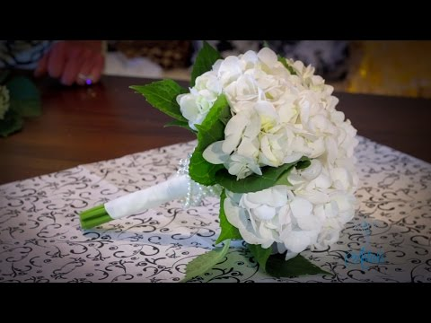 How to make a Hydrangea Bouquet Floristry Tutorial