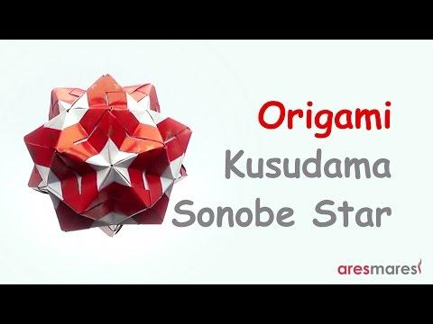 Origami Kusudama Star Sonobe Variation (intermediate - modular)