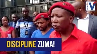 WATCH: Strong words from Malema as he approaches ConCourt for Zuma discipline