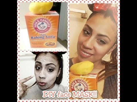 DIY FACE MASK... BAKING SODA & LEMON