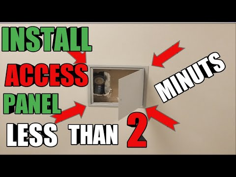 How To Make Drywall Access Panel