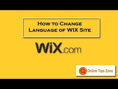 How to Change language of WIX website